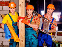 Men in builder uniform Royalty Free Stock Photos