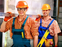 Men in builder uniform. Stock Photography