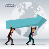 Men business carrying arrow team work Royalty Free Stock Photos
