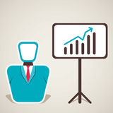 Men with business growth. Stock Royalty Free Stock Photography