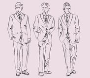 Men in business suits Stock Images