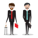 Men in Business Suits. Businessmen Cartoon. Stock Photo