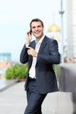 Men calling by phone Stock Photos