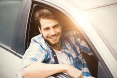 Men in a car Royalty Free Stock Image