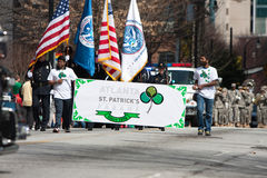 Men Carry Banner To Start St. Patrick's Parade Royalty Free Stock Images