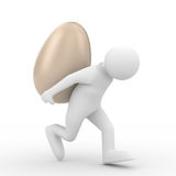 Men carry  egg on back Royalty Free Stock Photos