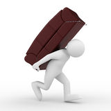 Men carry sofa on back Royalty Free Stock Photo