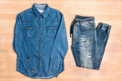 Men casual outfit jeans trendy style Royalty Free Stock Images