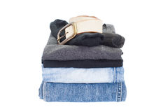 Men casual wear shirt and jean Royalty Free Stock Photography