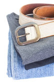 Men casual wear shirt and jean Stock Photography