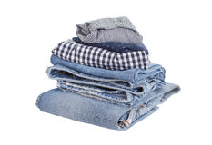 Men casual wear shirt and jean isolated. On white background Stock Photo
