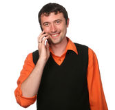 Men with cell phone Royalty Free Stock Images