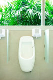 Men chamber pot or urinal in toilet Stock Image