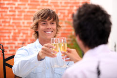 Men with champagne Royalty Free Stock Images