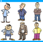 Men characters set cartoon illustration Royalty Free Stock Photography
