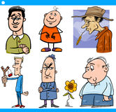 Men characters set cartoon illustration Stock Image