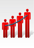 Men chart. Business series royalty free illustration