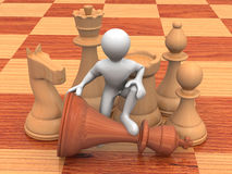 Men with chess Stock Images