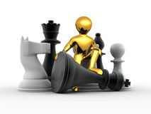 Men with chess Royalty Free Stock Photos