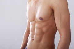 Men chest and muscles Stock Photo