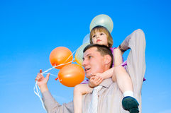 Men and child Royalty Free Stock Image