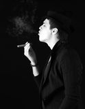 Men with cigar Royalty Free Stock Images
