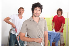Men cleaning Stock Image