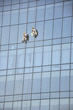 Men cleaning windows Stock Photo