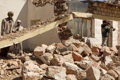 Men clearing rubble, Ethiopia Stock Photos