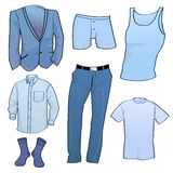 Men clothes icons. Vector illustration of cool Men clothes icon set Royalty Free Stock Photography