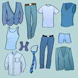 Men clothes icons Royalty Free Stock Photography