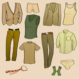 Men clothes icons Royalty Free Stock Image