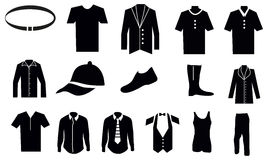 Men Clothes Icons Set Royalty Free Stock Images