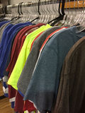 Men Clothes for sale at store Royalty Free Stock Photo