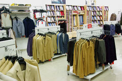 Men clothes in shop Stock Photography