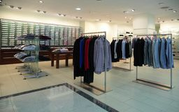 Men clothes in shop Royalty Free Stock Photo