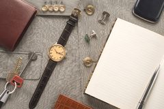 Men clothing and accessories Royalty Free Stock Photography