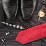 Men clothing and accessories Stock Images