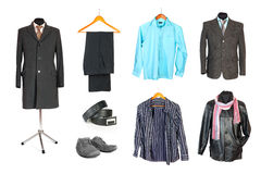 Men clothing collection royalty free stock images