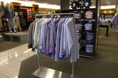 Men clothing department store stock photography