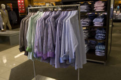 Men clothing fashion department store Royalty Free Stock Photos