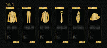 Men Clothing Royalty Free Stock Images