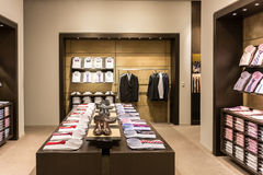 Men Clothing Store Interior Royalty Free Stock Photos
