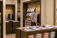 Men Clothing Store Interior Stock Photo