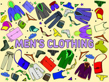 Men clothing vector illustration Royalty Free Stock Image