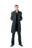 Men in coat Stock Image