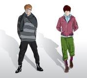 Men in the demi-season clothes Royalty Free Stock Photo