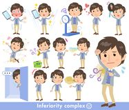 Men_complex blu della maglia del rivestimento illustrazione di stock