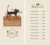 Menú con el gato Imagenes de archivo