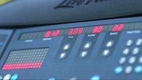 Men Configure Treadmill stock video